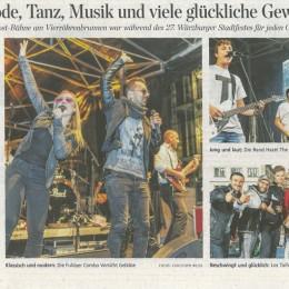 Zeitungsartikel vom Stadtfest Würzburg aus der Mainpost